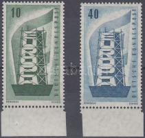 1956 Europa CEPT ívszéli sor Mi 241-242