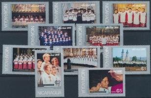 1975 Karácsony sor 20c nélkül Mi 1907-1917 (Mi 1913 hiányzik) + blokk 91