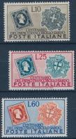 1951 100 éves a szárd bélyeg sor Mi 845-847