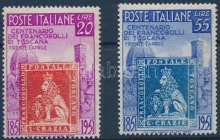 1951 100 éves a toszkán bélyeg sor Mi 826-827