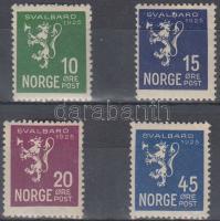 1925 Címeroroszlán sor Mi 116-119