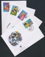 2003 WWF halak sor Mi 553-556 4 FDC