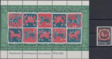 1974 Karácsony bélyeg Mi 875 + blokk 6