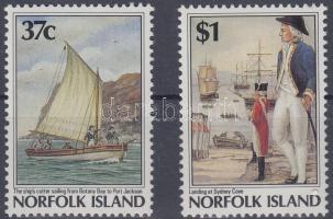 1988 A Norfolk-szigetek gyarmatosítása sor Mi 432-433