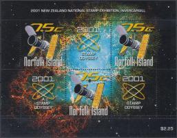 2001 Új-zélandi bélyegkiállítás blokk Mi 39