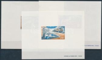 1973 Vasút deluxe blokk sor Mi 401-403