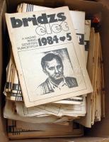 cca 1970-1985 A Bridzsélet c. újság nagyon sok száma, nagy dobozban