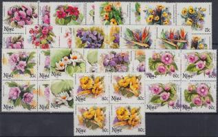 1981 Virágok 24 érték 4-es tömbökben Mi 382-405 (a záróértékek hiányoznak)
