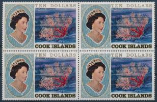 1981 Forgalmi: II. Erzsébet királynő, csalánozók záróérték 4-es tömb Mi 767