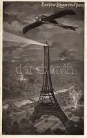 Deutscher Flieger über Paris; Deutscher Luftflotten-Verein / German airforce, plane over Paris, Német repülő Párizs felett