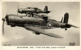 Blackburn ROC Fleet Air Arm 2-seat Fighter / British airforce, military propaganda