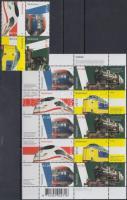 Railways set and minisheet, Vasút sor és kisív