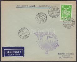 1937 Budapest - Szolnok első légiposta levél