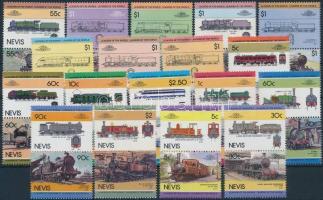 1983-1986 25 db Mozdony pár és 1 kisív 2 stecklapon