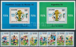 1991 Labdarúgó VB, Argentína sor Mi 558-565 + blokksor 18-19