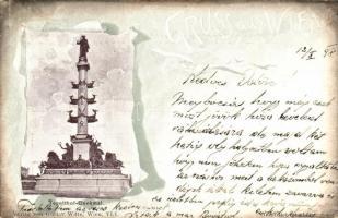 1898 Vienna, Wien; Tegetthoff-Denkmal. Verlag von Gustav Witte / Tegetthoff monument