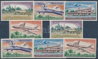 1963 Repülőtér fogazott + vágott sor Mi 222-225