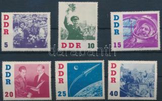 1961 German Titow űrhajós látogatása sor Mi 863-868