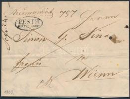 1839 Franco levél teljes tartalommal / franco cover with full content PESTH / RECOMANDIRT