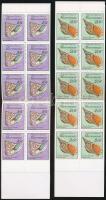 1989 Csigák 2 db bélyegfüzet Mi 144, 146 D