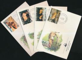 1985 WWF állatok sor Mi 881-884 4 FDC