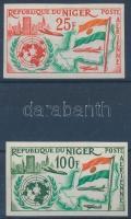 1961 Csatlakozás az ENSZ-hez vágott sor Mi 18-19