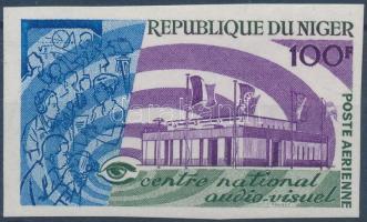 1967 Rádió és televízió központ vágott bélyeg Mi 163