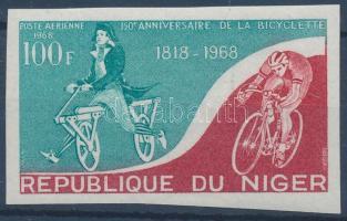 1968 150 éves a kerékpár vágott bélyeg Mi 187