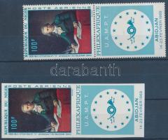 1968 PHILEXAFRIQUE bélyegkiállítás fogazott + vágott szelvényes bélyeg (hajtott szelvény) Mi 204