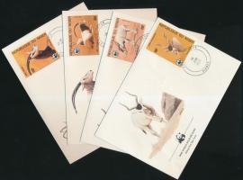 1985 WWF állatok sor Mi 941-944 4 FDC