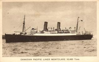 Canadian Pacific Liner Montclare, Montclare óceánjáró hajó