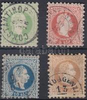1867 Forgalmi sor 4 értéke Mi 2II-5II