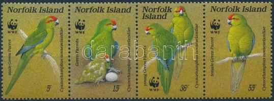 1987 WWF: Papagáj négyescsík Mi 421-424