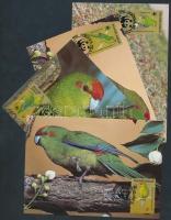 1987 WWF: Papagáj sor 4 db CM-en Mi 421-424