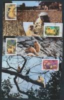 1984 WWF: Majmok sor 4 db CM-en Mi 840-843