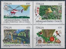 1989 Erdővédelem sor 4-es tömbben Mi 1879-1882