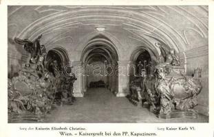 Wien, Kaisergruft bei den PP. Kapuzinern, Sarg der Kaiserin Elisabeth Christine, Sarg Kaiser Karl VI / Austrian Royal caskets, VI. Károly német-római császár és Erzsébet Krisztina császárné koporsója Bécsben