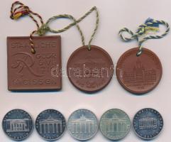 NDK 1965-1967. 8db-os Ag, Ni és porcelán emlékérem tétel T:1-,2 GDR 1965-1967. 8pcs of Ag, Ni and porcelain commemorative medallions C:AU,XF