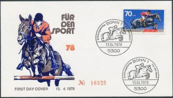 1978 Sporthilfe Mi 968 FDC