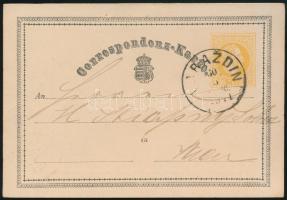 1871 2kr díjjegyes levelezőlap (VA)RAZDIN / (VEC)