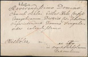 ca. 1800 Franco levél v. Kaschau.