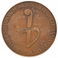 Bulgária DN Nyári Nemzetközi Zenei Fesztivál Várna Br emlékérem tokban (75mm) T:2 Bulgaria ND Summer International Music Festival - Varna Br commemorative medal in case (75mm) C:XF