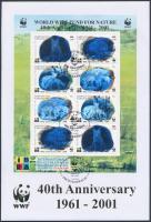 2001 40 éves a WWF hologramos kisív Mi 249-252 FDC