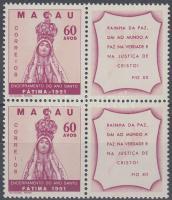 1951 A szent év vége szelvényes négyestömb Mi 386 Zf