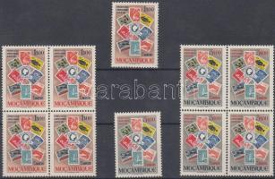 1953 Bélyegkiállítás sor + sor négyestömbökben Mi 437-438