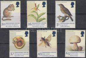 1998 Veszélyeztetett állat- és növényfajták sor Mi 1723-1728