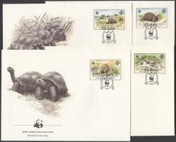 1987 WWF teknősök sor Mi 137-140 4 FDC