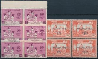 1961 + 1963 UNICEF és Munka ünnepe 2 klf hatostömb Mi 168 + 176