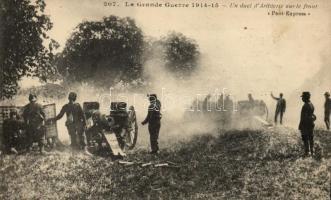 1914-1915 Un duel d'Artillerie sur le front / French army, artillery in battle, 1914-1915 Francia hadsereg, tüzérség harcközben