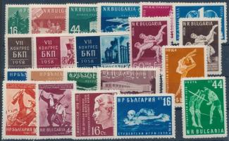 1958 9 db kiadás, közte teljes sorok